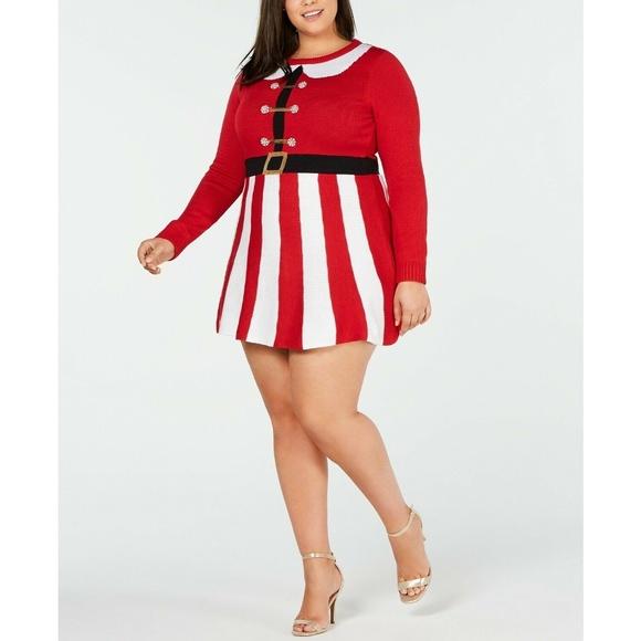 Planet Gold Dresses & Skirts - Planet Gold Embellished Santa Sweater Dress Xmas